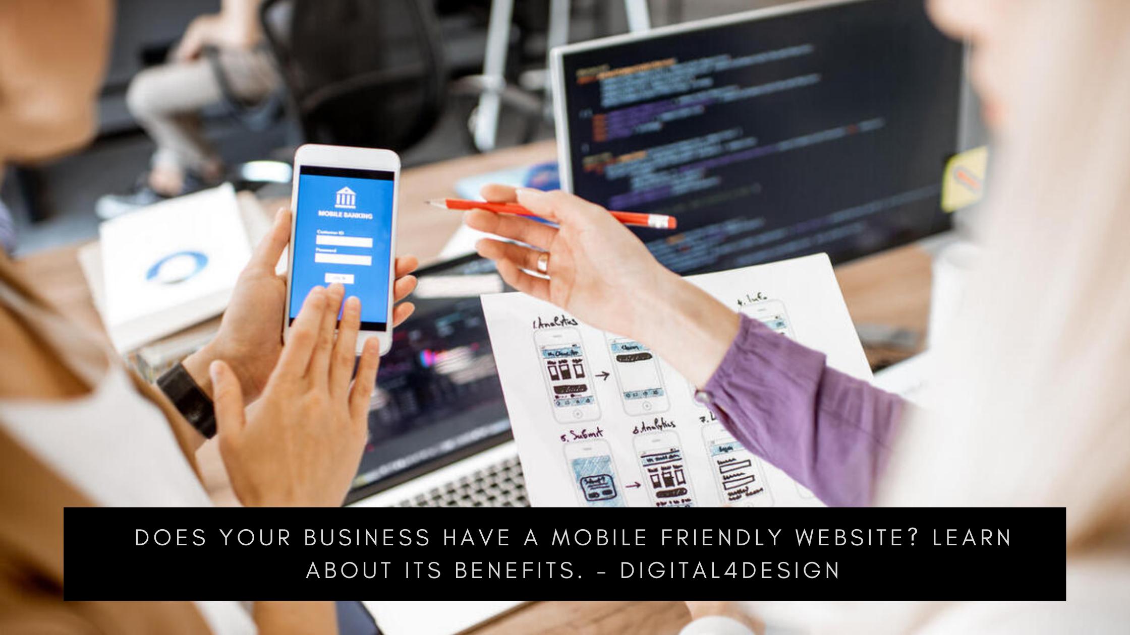 Mobile friendly website - Digital4design